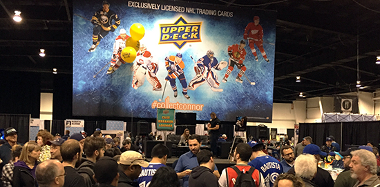 2015-16-NHL-Upper-Deck-Fleer-Showcase-Spring-Expo-Booth-Busy-Wrapper-Redemption-Program-Show