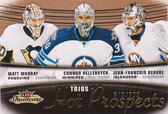2015-16-NHL-Fleer-Showcase-Matt-Murray-Rookie-Card-Hellebucyk