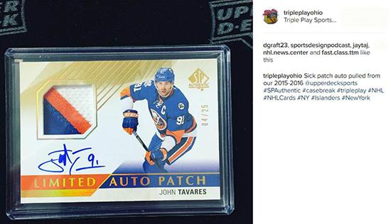 2015-16-NHL-SP-Authentic-John-Tavares-autograph-patch-triple-play-ohio