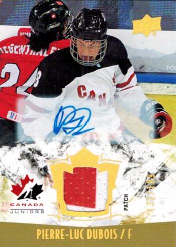Upper-Deck-pierre-luc-dubois-team-canada-autograph-patch-card