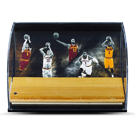 cleveland-cavaliers-photo-game-used-floor-curve-display-upper-deck-authenticated-main