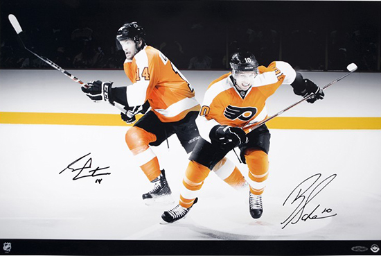 philadelphia-flyers-signed-hockey-picture-Upper-Deck-authenticated