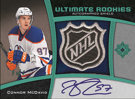 2015-16-NHL-Ultimate-Collection-Autograph-Rookie-Shield-One-of-One-Card