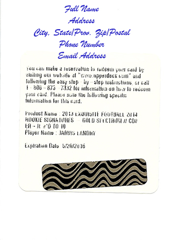 Expired-Upper-Deck-Redemption-Card-Raffle