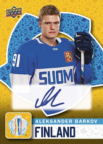 2016-Upper-Deck-World-Cup-of-Hockey-Promotional-Set-Autograph-Aleksander-Barkov