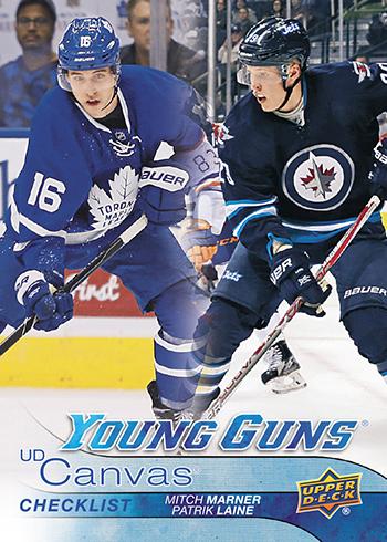 2016-17-NHL-Upper-Deck-Series-One-Young-Guns-Rookie-Card-Canvas-Patrik-Laine-Mitch-Marner-Checklist