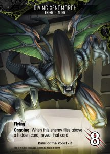 2016-upper-deck-card-preview-legendary-encounters-alien-expansion-card-enemy-diving-xenomorph-flying