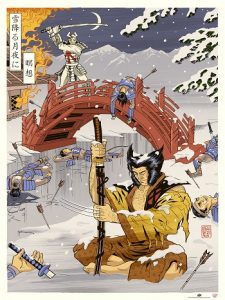 2016-upper-deck-gallery-poster-eastern-woodblock-wolverine-marcelo-baez-ukiyo