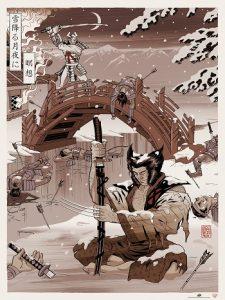 2016-upper-deck-gallery-poster-eastern-woodblock-wolverine-marcelo-baez-ukiyo-variant