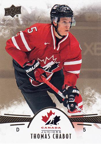 2016-17-NHL-Upper-Deck-Rookie-Radar-Ottawa-Senators-Thomas-Chabot-Team-Canada-Juniors