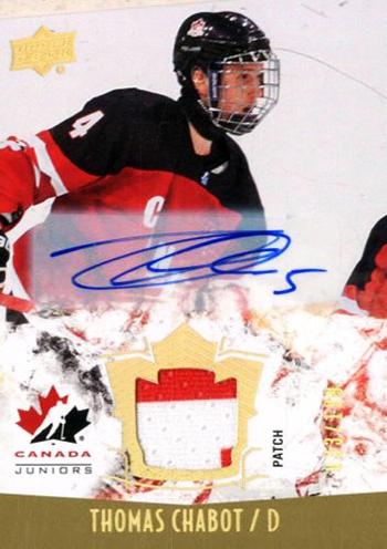 2016-17-NHL-Upper-Deck-Rookie-Radar-Ottawa-Senators-Thomas-Chabot-autograph-jersey-Team-Canada-Juniors
