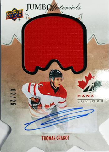 2016-17-NHL-Upper-Deck-Rookie-Radar-Ottawa-Senators-Thomas-Chabot-autograph-jumbo-materials-Team-Canada-Juniors