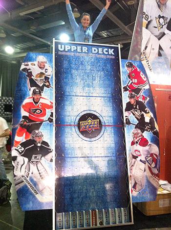 2017-NHL-All-Star-Fan-Fair-Weekend-Upper-Deck-Booth-Puck-O-Plinko