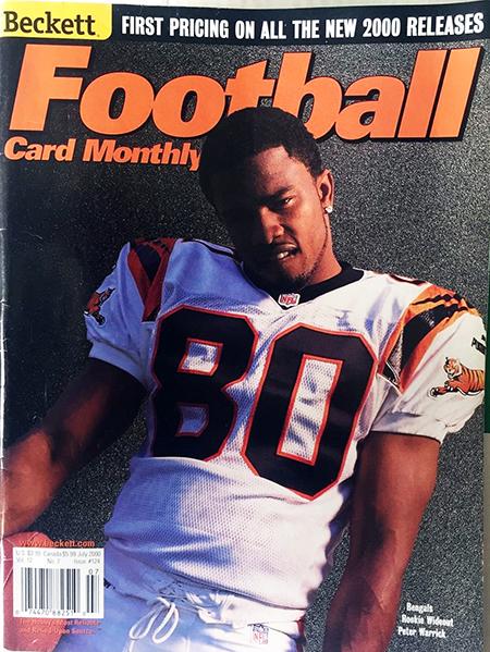 2000-Upper-Deck-SP-Authentic-Football-NFL-Best-Rookie-Cards-Beckett-Magazine-Cover-Peter-Warrick