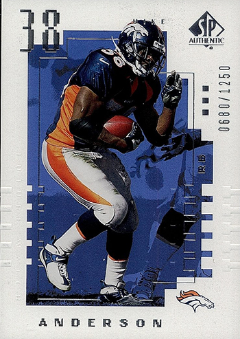 2000-Upper-Deck-SP-Authentic-Football-NFL-Best-Rookie-Cards-Mike-Anderson