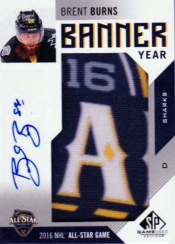 2016-17-NHL-SP-Game-Used-Banner-Year-Autograph-Brent-Burns
