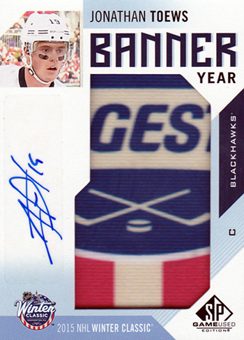 2016-17-NHL-SP-Game-Used-Banner-Year-Autograph-Jonathan-Toews