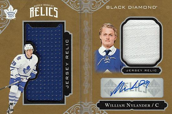 2016-17-NHL-Upper-Deck-Rookie-William-Nylander-Toronto-Black-Diamond-Autograph-Booklet