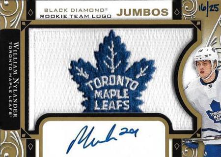 2016-17-NHL-Upper-Deck-Rookie-William-Nylander-Toronto-Black-Diamond-Autograph-Maple-Leaf-Patch