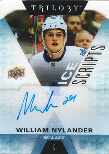 2016-17-NHL-Upper-Deck-Rookie-William-Nylander-Toronto-Trilogy-Autograph-Maple-Leaf-Ice-Scripts