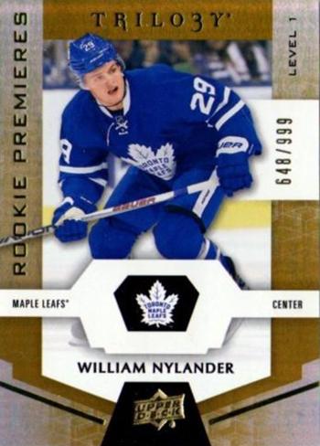 2016-17-NHL-Upper-Deck-Rookie-William-Nylander-Toronto-Trilogy-Premieres