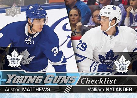2016-17-NHL-Upper-Deck-Rookie-William-Nylander-Toronto-Young-Guns-Checklist-Matthews