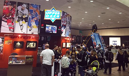 Upper-Deck-e-Pack-NHL-All-Star-Fan-Fair-Booth-Busy-P-Card-Puck-O