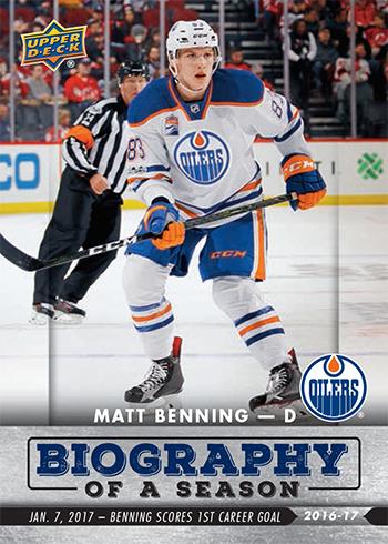 2016-17-Upper-Deck-NHL-Biography-of-a-Season-Edmonton-Oilers-Card8-Matt-Benning