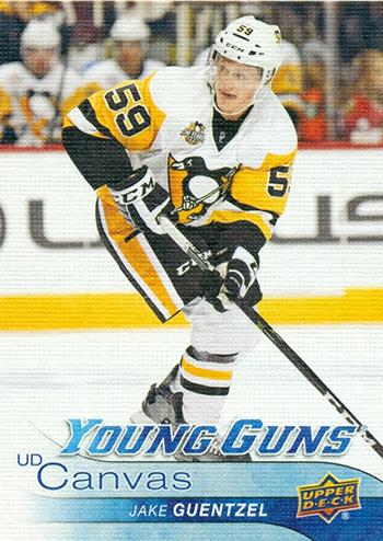 2016-17-Jake-Guentzel-Upper-Deck-Canvas-Young-Guns-Card