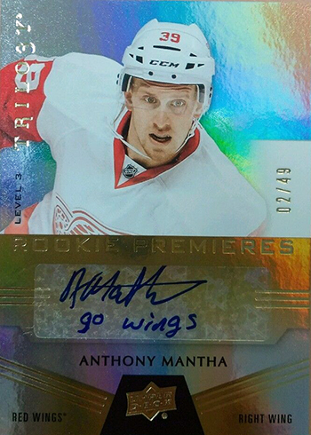 2016-17-NHL-Upper-Deck-Rookie-Card-Anthony-Mantha-Detroit-Red-Wings-Trilogy-Autograph