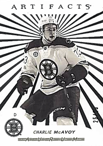 2017-18-Upper-Deck-NHL-Artifacts-White-Aurum-Bounty-Charlie-McAvoy