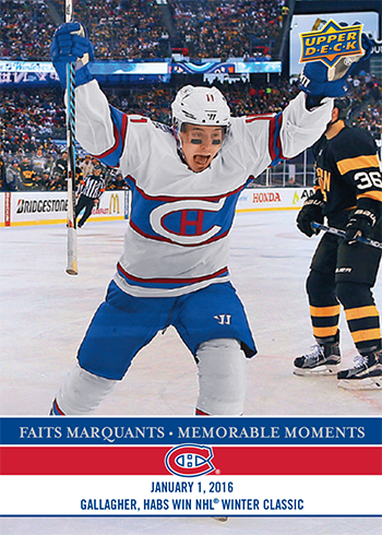 2017-LAnti-Expo-Montreal-Canadiens-Memorable-Moments-Set-7-Brendan-Gallagher