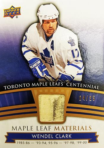 2017-Upper-Deck-Toronto-Maple-Leafs-Centennial-Set-Materials-Wendel-Clark
