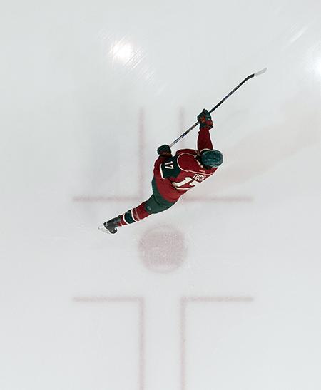 Upper-Deck-2016-NHLPA-Rookie-Showcase-Alex-Tuch-Las-Vegas-Golden-Knights-Minnesota-Wild-Aerial-Overhead