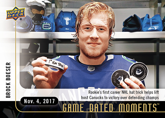 2017-18-Upper-Deck-NHL-Game-Dated-Moments-Brock-Boeser-Vancouver-Canucks-Hat-Trick