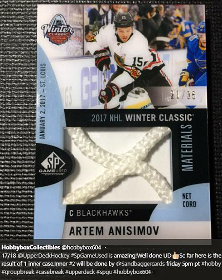 2017-18-NHL-SP-Game-Used-Winter-Classic-Artem-Anisimov-Net-Cord