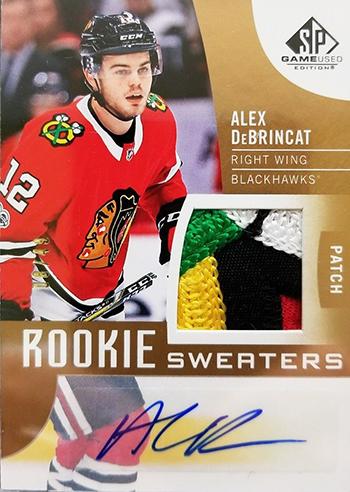 2017-18-Upper-Deck-NHL-SP-Game-Used-Rookie-Patch-Autogrpah-Alex-DeBrincat