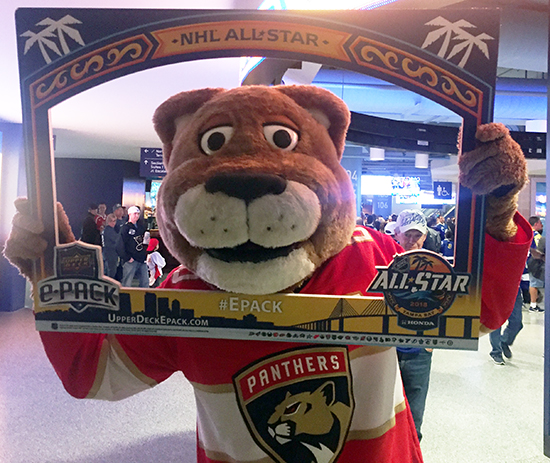2018-NHL-All-Star-Upper-Deck-Fan-Photo-Opp-Florida-Panthers-Mascot