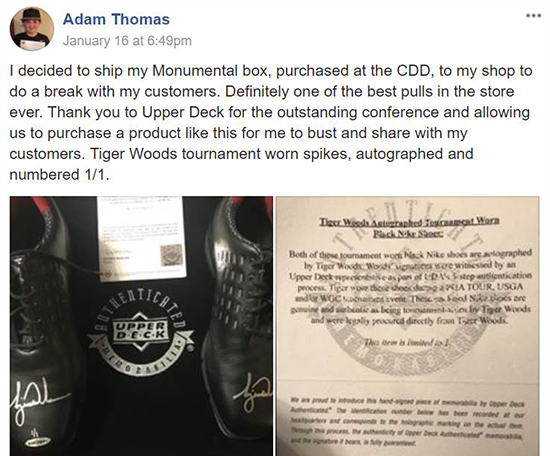 2018-Upper-Deck-Certified-Diamond-Dealer-Conference-Upper-Deck-Authenticated-Monumental-Tiger-Woods-Tournament-Worn-Shoes