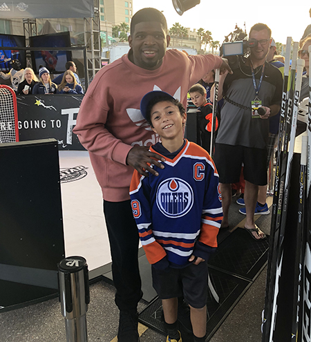 2018-upper-deck-nhl-all-star-media-day-kid-correspondent-interview-reporter-fan-fair-pk-subban-jaxson-shandler