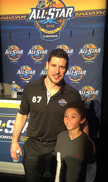 2018-upper-deck-nhl-all-star-media-day-kid-correspondent-interview-reporter-sidney-crosby-jaxson-shandler