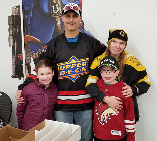 upper-deck-nhl-national-hockey-card-day-fathers-sons-canadian-dad-out-of-the-box-olivia-steph-amy-rocky