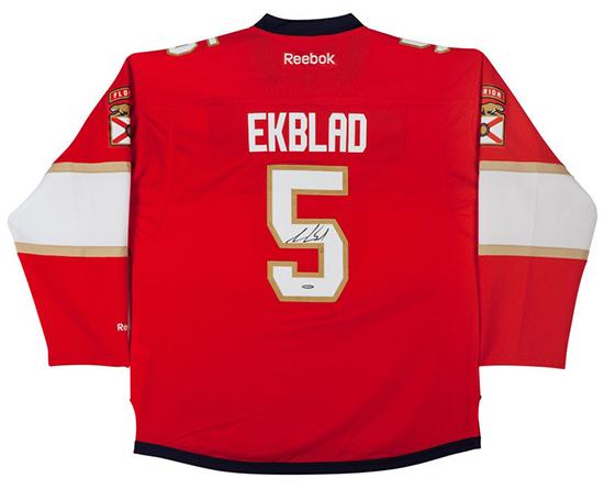 aaron-ekblad-autographed-florida-panthers-red-premier-jersey-86425