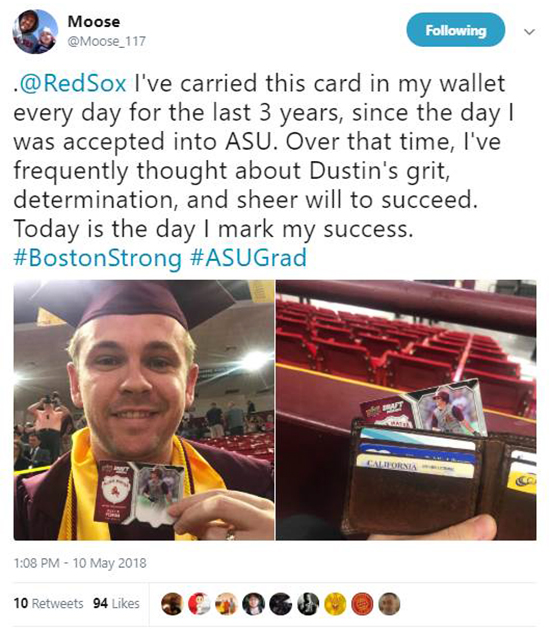 Moose-Dustin-Pedroia-Upper-Deck-Wallet-Card-ASU-Sun-Devils-Graduation-1