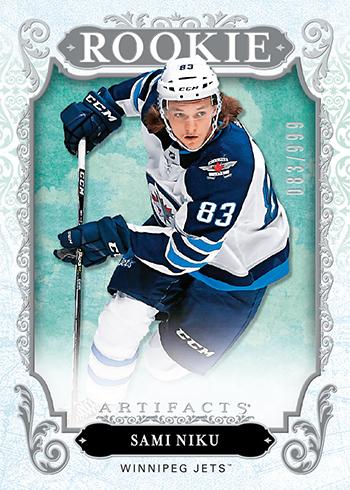 2018-19-upper-deck-nhl-hockey-rookie-card-sami-niku-artifacts-carryover
