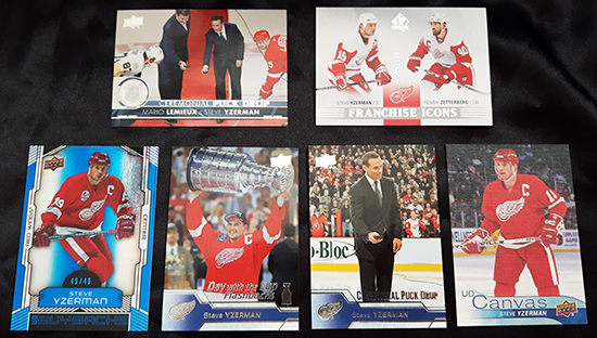 Upper-Deck-Steve-Yzerman-Featured-Collector-Cless-Howse-Collectibles-Numbered-Insert-Cards-Red-Wings