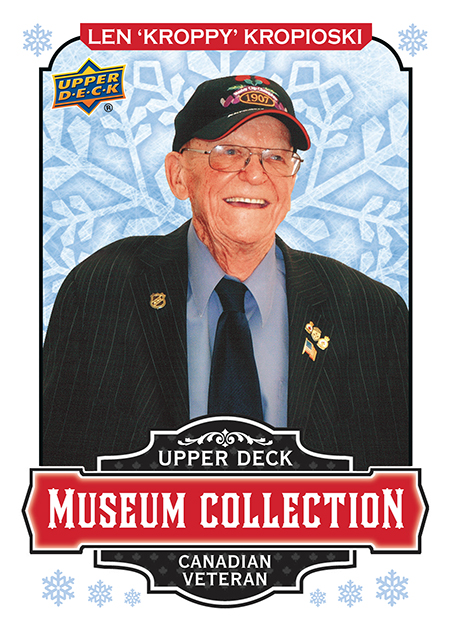 2018-upper-deck-singles-day-winter-museum-collection-veteran-len-kroppy-kropioski-remembrance-day