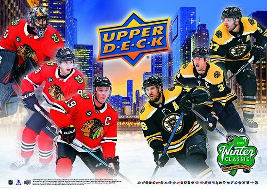 2019 Upper Deck Boston Bruins Chicago Blackhawks Notre Dame Winter Classic Poster
