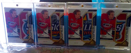 sp game used patch supreme noah hanifin puzzle completed