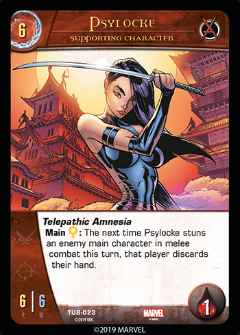 Vs. System 2PCG Utopia Battles Supporting Character Psylocke